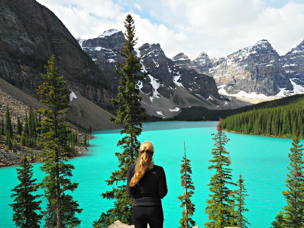 Lake Moraine, Banff, Banff National Park, Canada, mountains, Canadian rockies