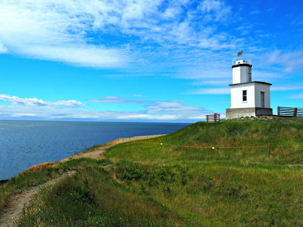 cattle point lighthouse, Friday harbor, San Juan islands, San Juan island,