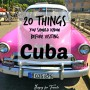 20 Things To Know Before Visiting Cuba
