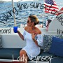 Taking the sunset cruise aboard the Lady Lynsey to St. John